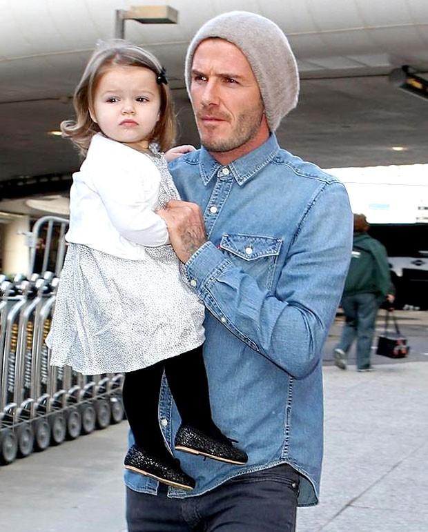 Beckham com a filha Harper Boleirama (Foto: Reprodução)