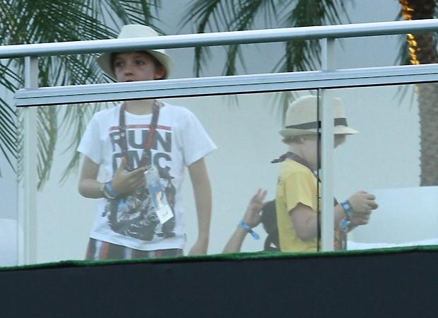 As crianças no camarote (Foto: Foto Rio News)