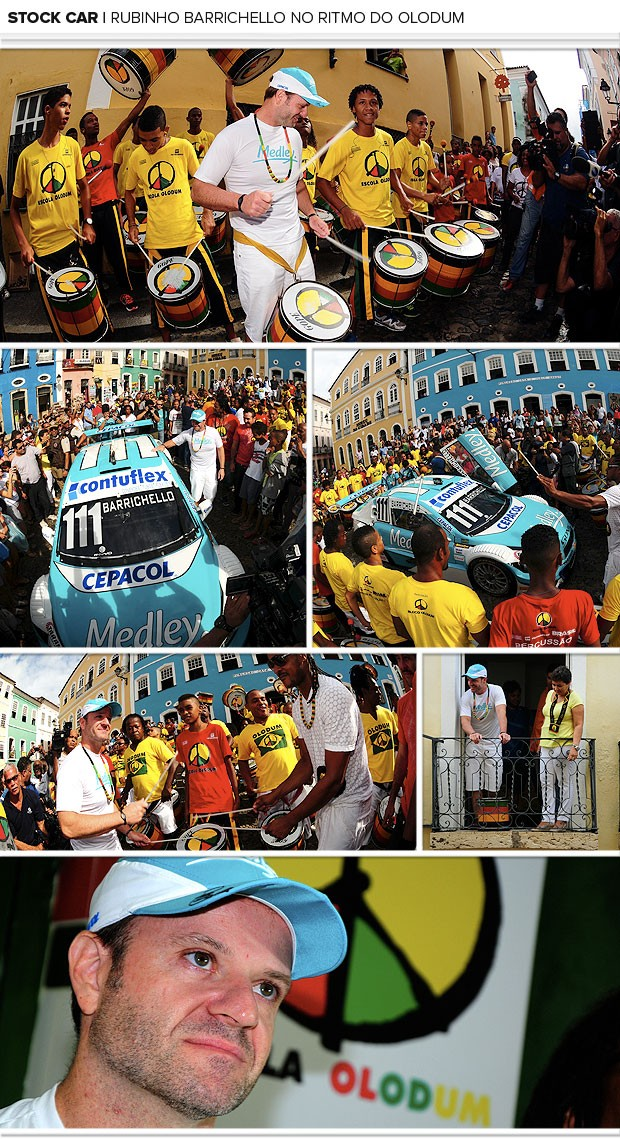 mosaico Barrichello Stock Car Salvado Olodum (Foto: Duda Bairros / Stock Car)
