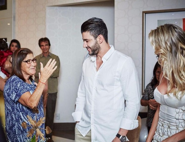 Andressa Suita lamenta a morte de Sebastiana Maria, mãe de Gusttavo Lima (Foto: Reprodução/Instagram)