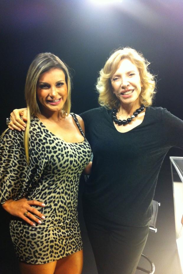 Andressa Urach e Marília Gabriela (Foto: Divulgação)