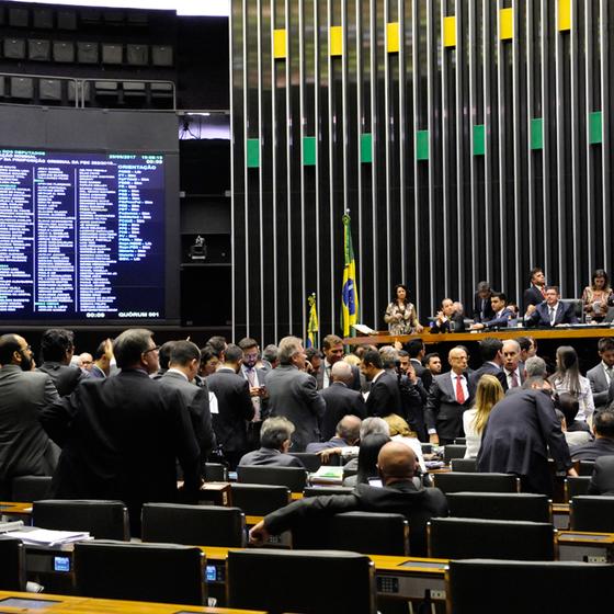 Sessão da Câmara na semana passada (Foto:  LUIS MACEDO/Agência Câmara)