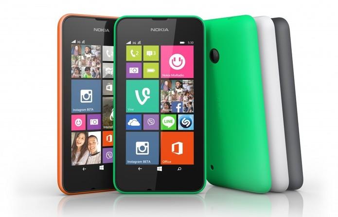 Lumia 530 tem tela de 4 polegadas e resolução de 245 ppi (Foto: Divulgação/Microsoft)