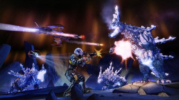 O elemento Crio permite congelar os inimigos para dar tempo de correr ou atacá-lo com uma outra arma (Foto: Divulgação)