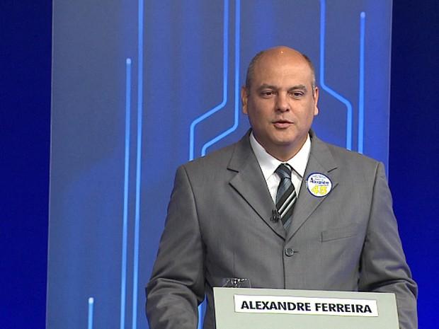 Alexandre Ferreira (PSDB) no último debate promovido pela EPTV (Foto: Reprodução EPTV)