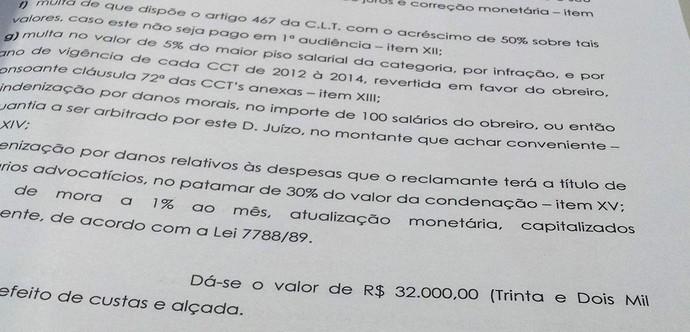 Processo do para-atleta Emerson José Barbosa contra o Santos (Foto: Reprodução)