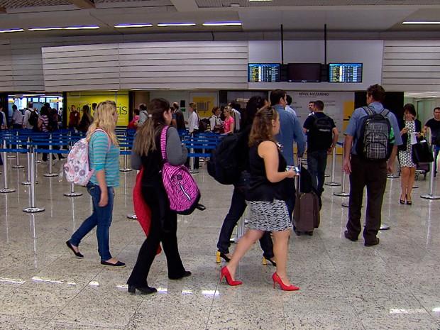 Saguão de Confins passou por reformas (Foto: Reprodução/TV Globo)