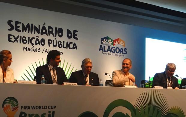 Seminário Copa do Mundo AL (Foto: Viviane Leão/GLOBOESPORTE.COM)