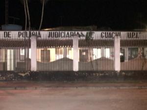 Suspeito foi encaminhado para o DPJ de Guaçuí (Foto: Reprodução/TV Gazeta Sul)