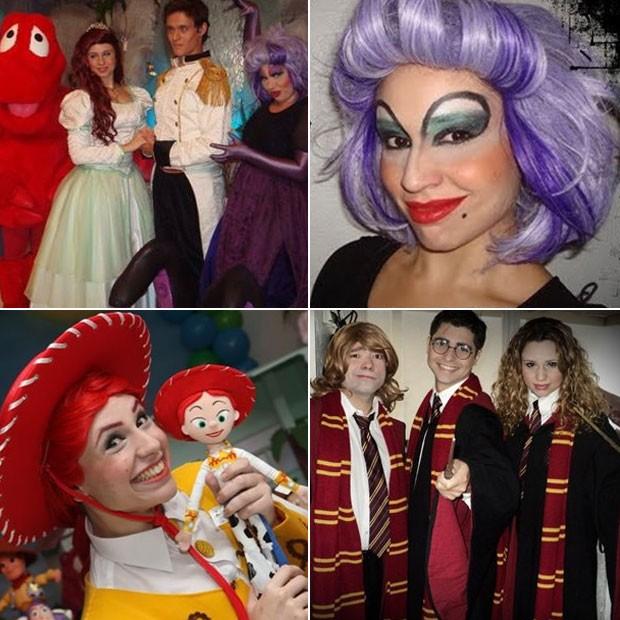 """Francis participa de peças de teatro em festas infantis. Ela já representou a pequena sereia Ariel, bruxas, a Jessy de """"Toy Story"""", Hermione de """"Harry Potter"""", entre outros famosos personagens (Foto: Divulgação)"""