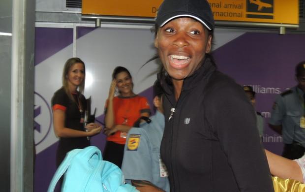 Venus Williams desembarca em Florianópolis para o Brasil Tennis Cup (Foto: João Lucas Cardoso)