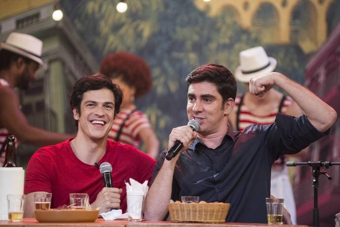 Solano e Adnet arrasaram com o Samba dos Bordões (Foto: Mauricio Fidalgo/TV Globo)