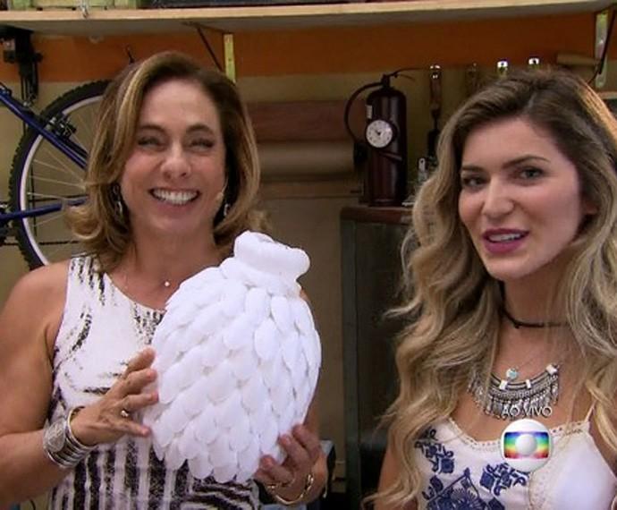 Está pronta! (Foto: TV Globo)