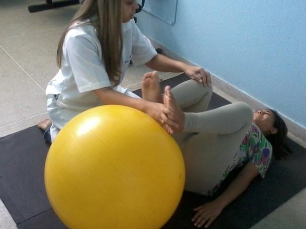 Fisioterapia para gestantes (Foto: Divulgação/Secom )