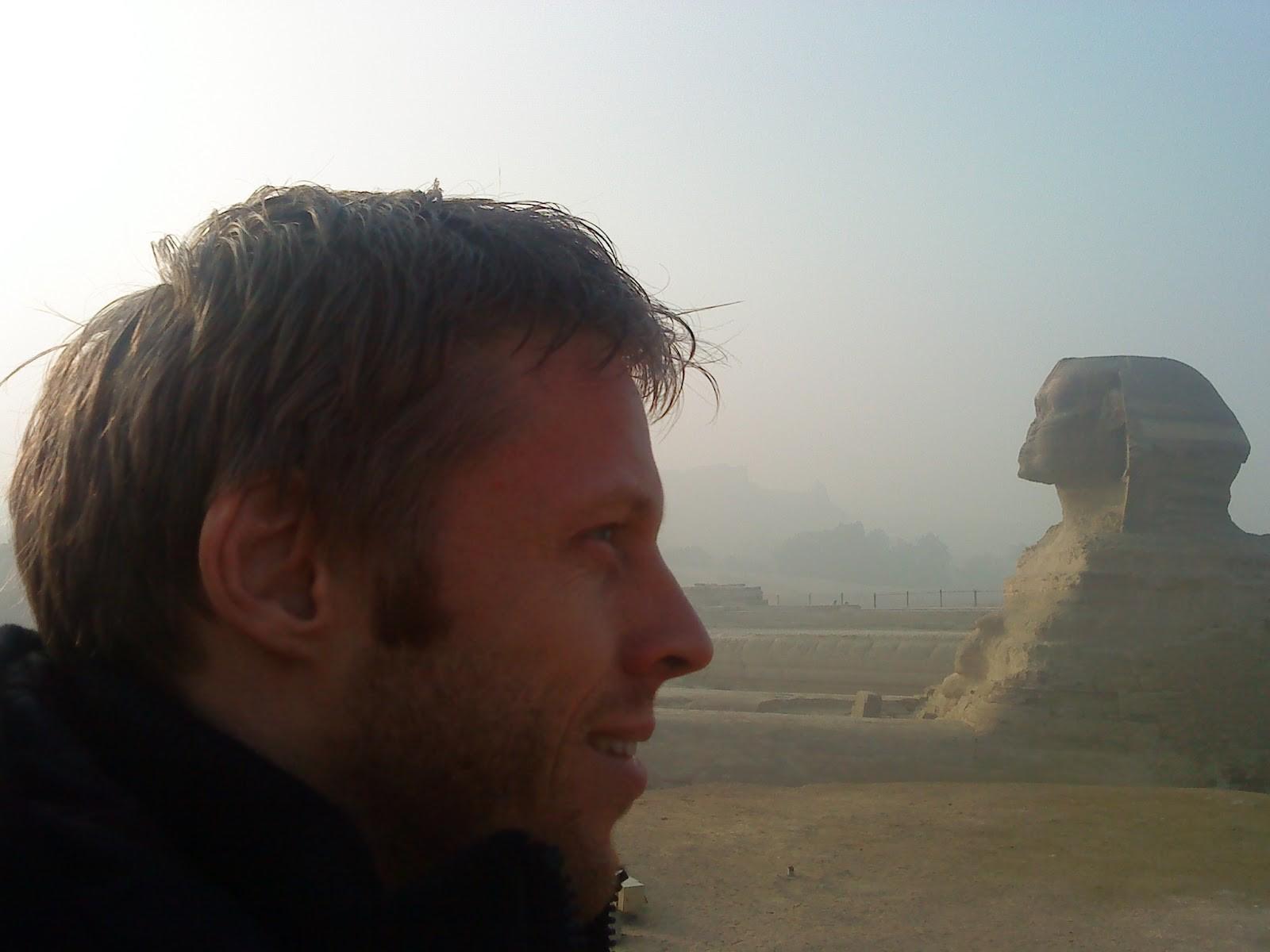 Gunnar Garfors no Egito (Foto: Divulgação)