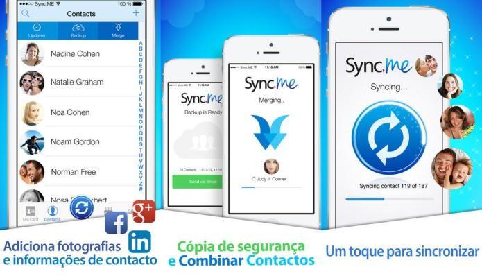 Sincronize contatos do Facebook, Linkedin e Google+ em um só lugar com Sync.ME (Foto: Divulgação/AppStore)