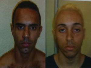 Victor Miguel Souza (à esq.) e Jonathan Cassiano Araújo, presos neste sábado (Foto: Divulgação/Polícia Civil)