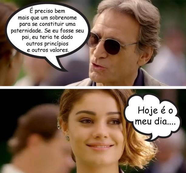 Plínio samba em Amora (Foto: Sangue Bom/TV Globo)