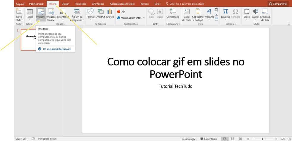 Interface do Microsoft PowerPoint (Foto: Reprodução/Priscila Martz)
