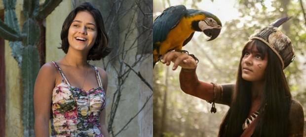 Giullia Buscacio vai viver a índia Jacira na novela Novo Mundo, trama das 18h da Globo (Foto: TV Globo/Divulgação)