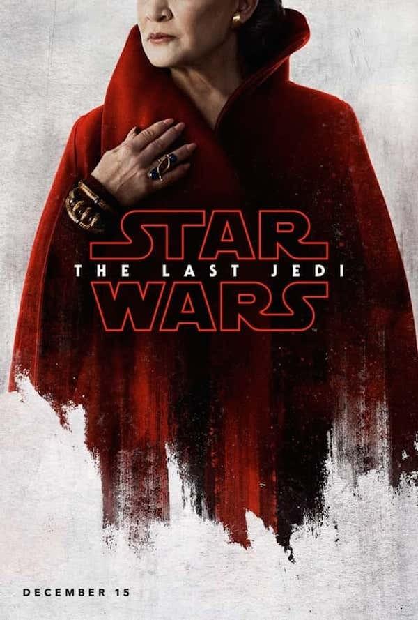 O pôster de Star Wars: Episódio VIII protagonizado por Carrie Fisher (Foto: Divulgação)