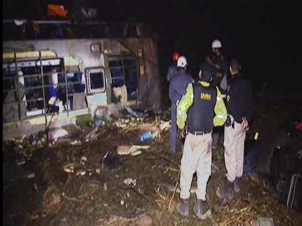 Passageiros contam como foi acidente em Luz (Foto: Reprodução/TV Integração)