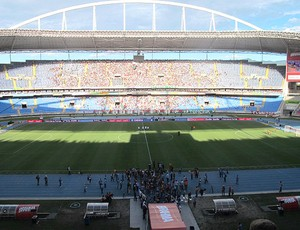 estádio Engenhão decisão Botafogo x Fluminense (Foto: André Casado / Globoesporte.com)