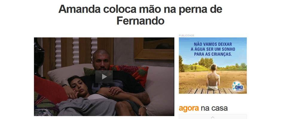 Amanda e Fernando notícia