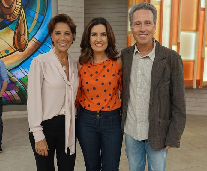 Angela Vieira, Fátima e Isio Ghelman depois do programa  (Foto: Carolina Morgado/Gshow)