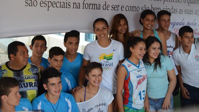 Paula Pequeno visita Rondônia na abertura do Joer (Foto: Pâmela Fernandes)