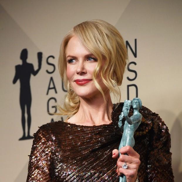 Nicole Kidman arrematou a estatueta de melhor atriz pela atuação em Big Little Lies (Foto: Getty Images)