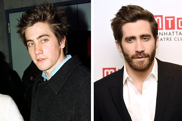 Jake Gyllenhaal em 2000 e em 2015 (Foto: Getty Images)