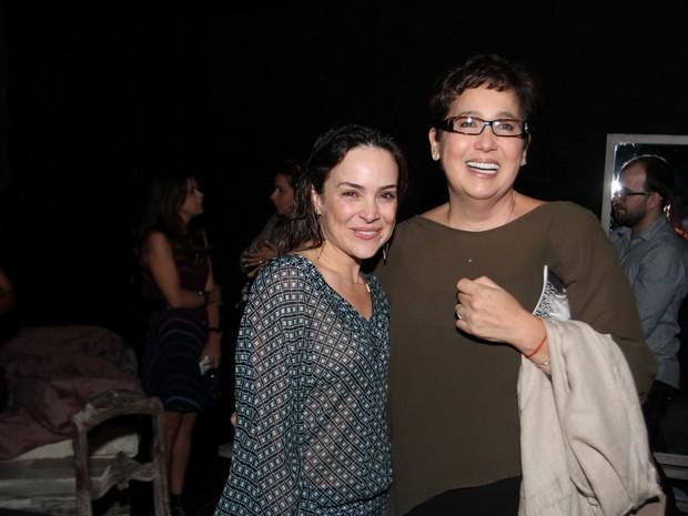 Marieta Severo e Claudia Jimenez em peça na Zona Sul do Rio (Foto: Anderson Borde/ Ag. News)