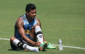 Wallyson treino Botafogo (Foto: Satiro Sodre / SSPress)