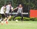 Liberado para o clássico, Wesley se destaca em treino do São Paulo