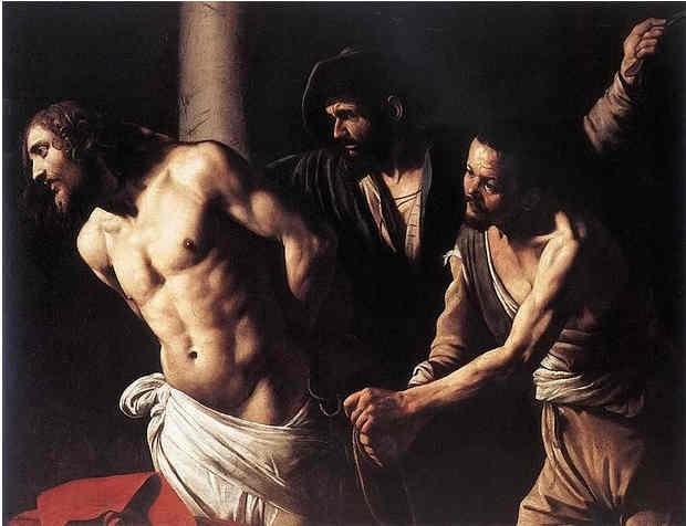 A Flagelação de Cristo (Foto: Pintura: Caravaggio / Reprodução)