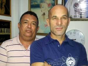 Carlos Alberto do Nascimento e  Ivair Fernandes Barbosa, em Campinas (Foto: Arquivo Pessoal / Ivair Barbosa)