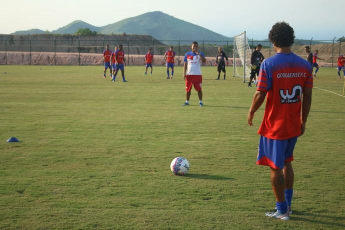 treino do Gonçalense no estádio catarinão (Foto: Leonardo Ferraz (GFC))