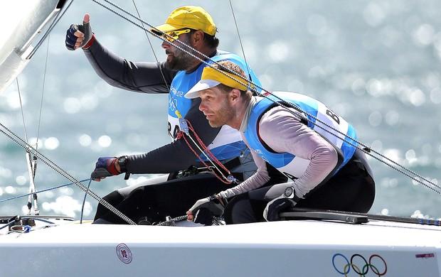 Robert Scheidt e Bruno Prada regata vela Londres (Foto: EFE)