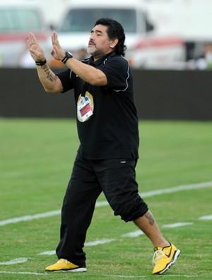 Diego Maradona técnico Al Wasl (Foto: Reprodução / Pro League)