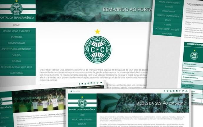 Portal de Transparência Coritiba (Foto: Divulgação Coritiba)