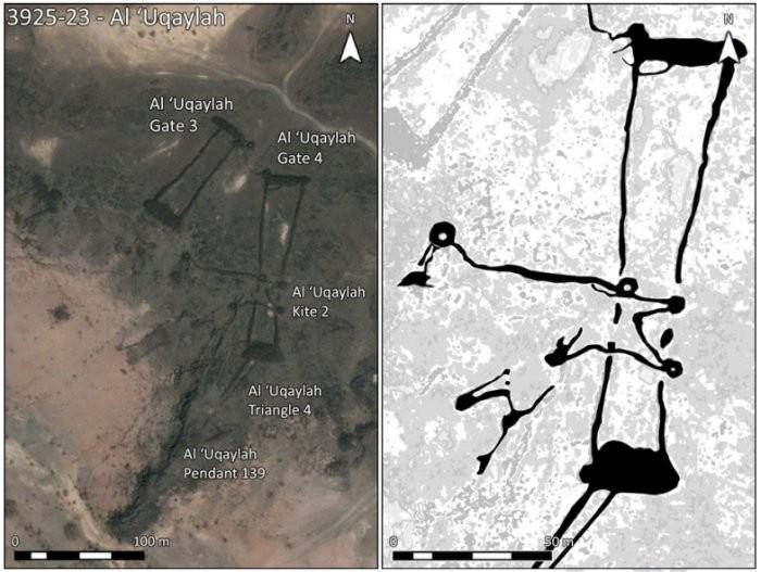 """Estrutura conhecida como """"pipa"""" (Foto: D. Kennedy, Arabian Archaeology and Epigrahy)"""