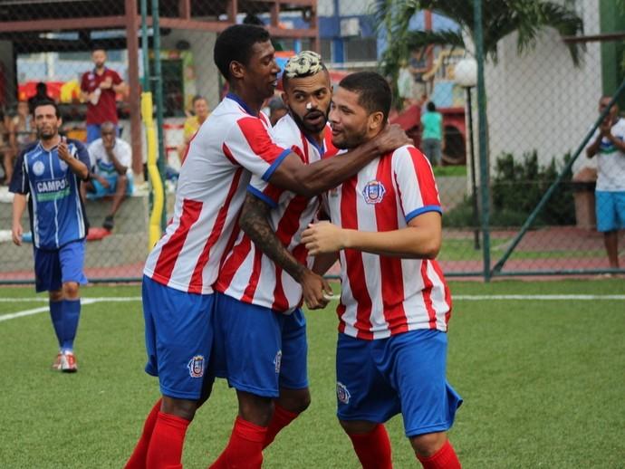 Gol do Búzios, futebol 7 (Foto: Betto Pericles/JornalF7.com)