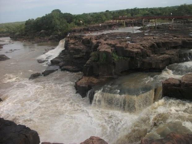 Parque Ecológico da Cachoeira do Urubu em Esperantina do Piauí (Foto: Gil Oliveira/G1)