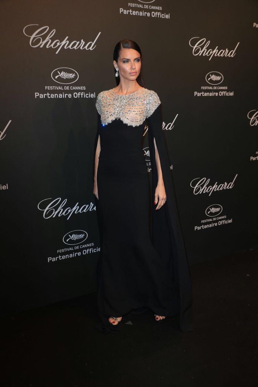 Adriana Lima em Cannes 2017 (Foto: Reprodução/Instagram)