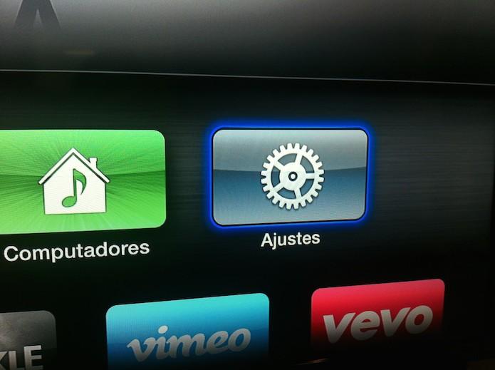 Acessando os ajustes da Apple TV (Foto: Marvin Costa/TechTudo)
