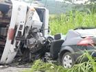 Caminhoneiro que matou dois em acidente estava bêbado, diz polícia