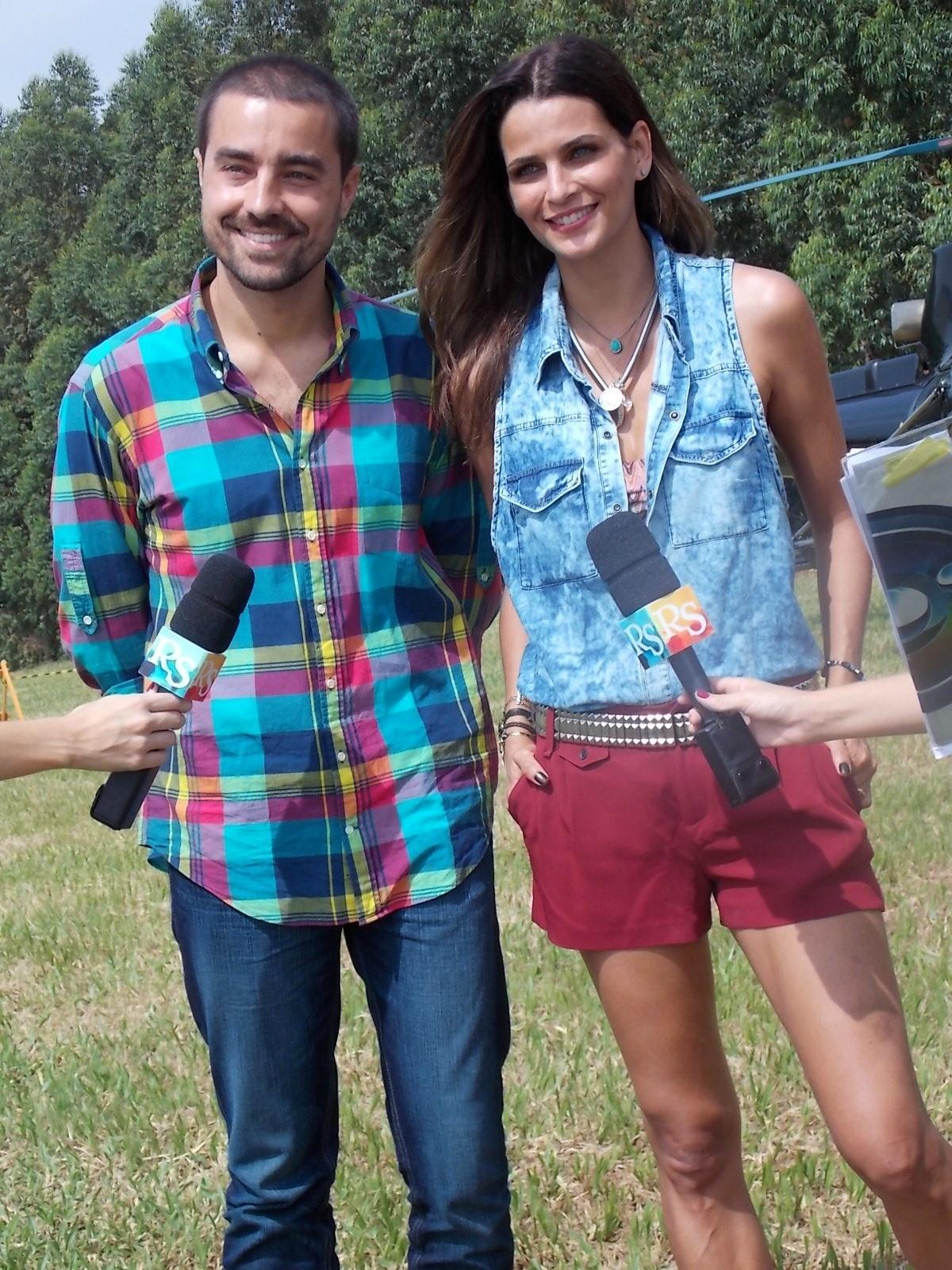 Ricardo Pereira e Fernanda Motta no Dança da Galera em Botucatu (Foto: Gabriela Cardoso / TV TEM)
