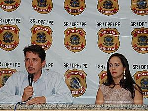 Nilson Antunes e Kilma Caminha - delegados da Polícia Federal (Foto: Roberta Rêgo / G1)