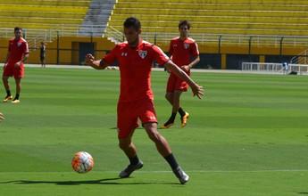 Com tendinite no joelho direito, Breno deve desfalcar o São Paulo na quarta